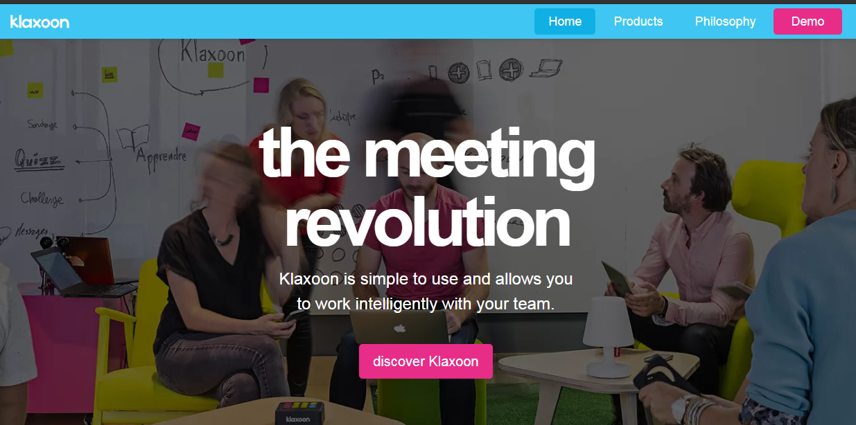 Обзор платформы для интерактивных совещаний Klaxoon